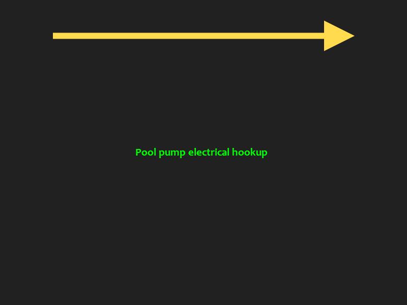 pool pump electrical hook up