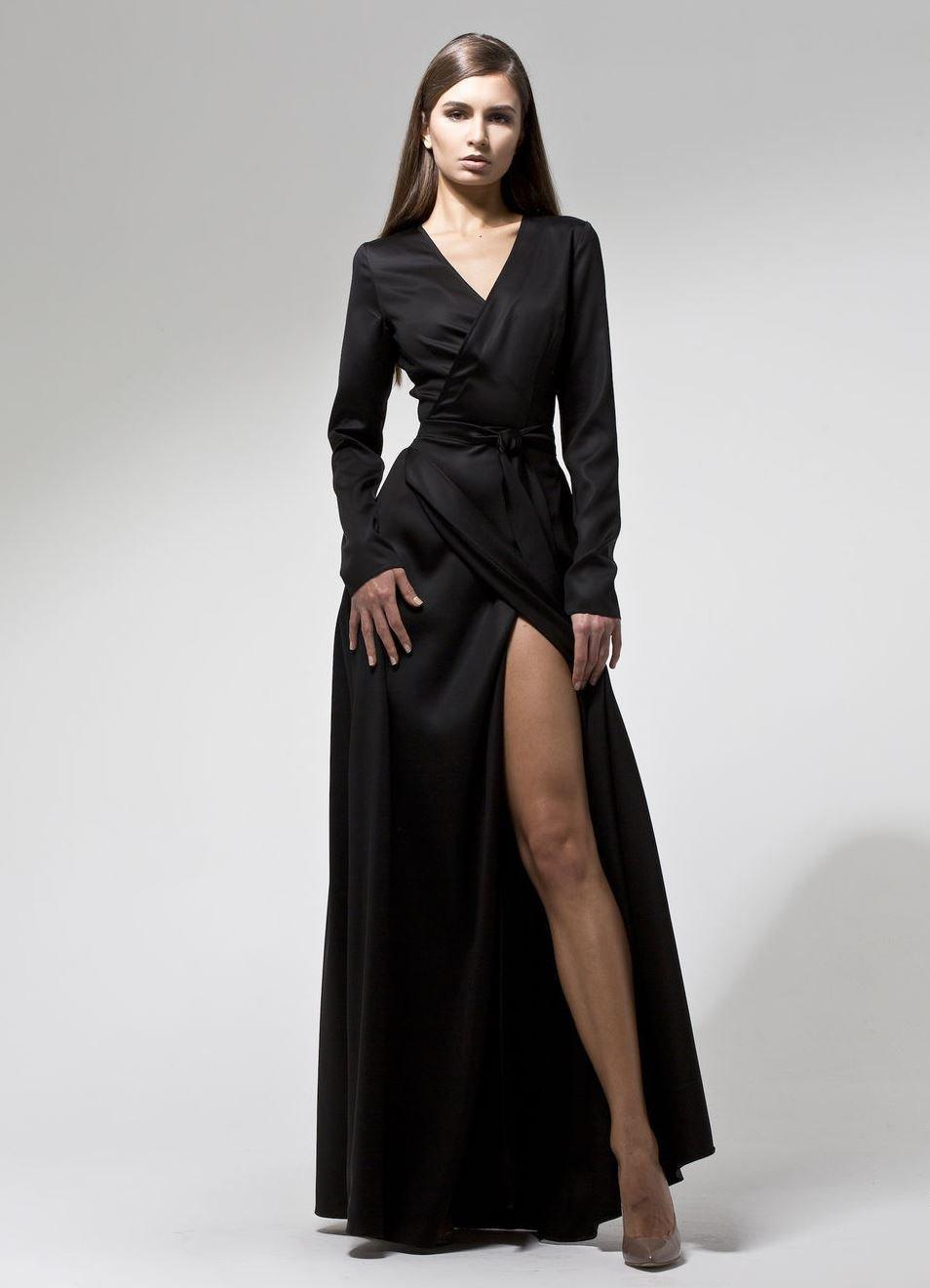 ac9284dca90 Длинное шелковое платье на запах » — карточка пользователя ira ...
