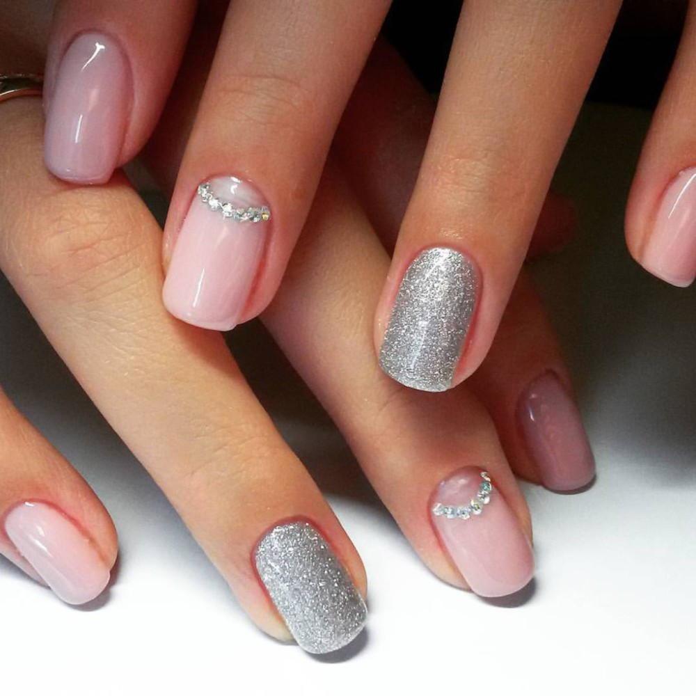 Ногти Нежно Розовые С Рисунком