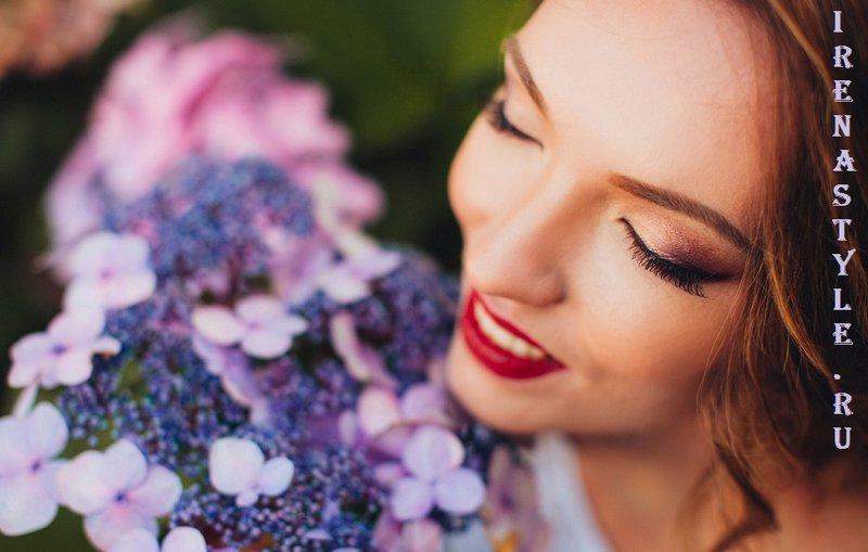 Нежный макияж на свадьбу.