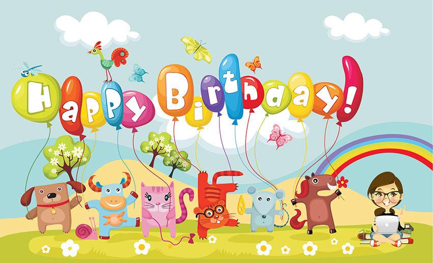 Прикольные картинки про день рождения ребенка, тему лето