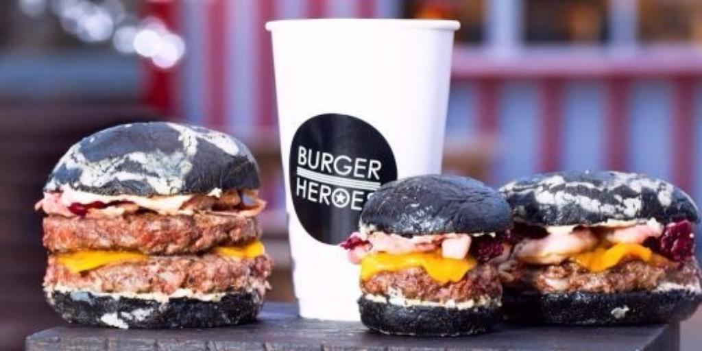 чёрная мамба гамбургер