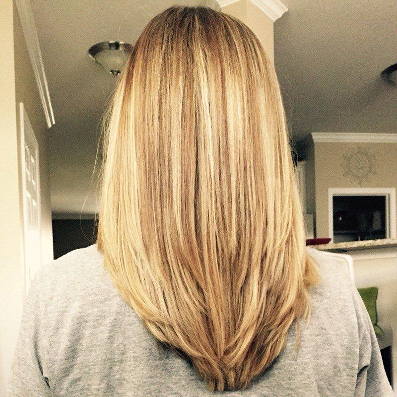 фото средние волосы на стрижка концов