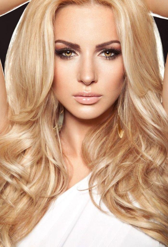 цвет волос тёплый блонд фото
