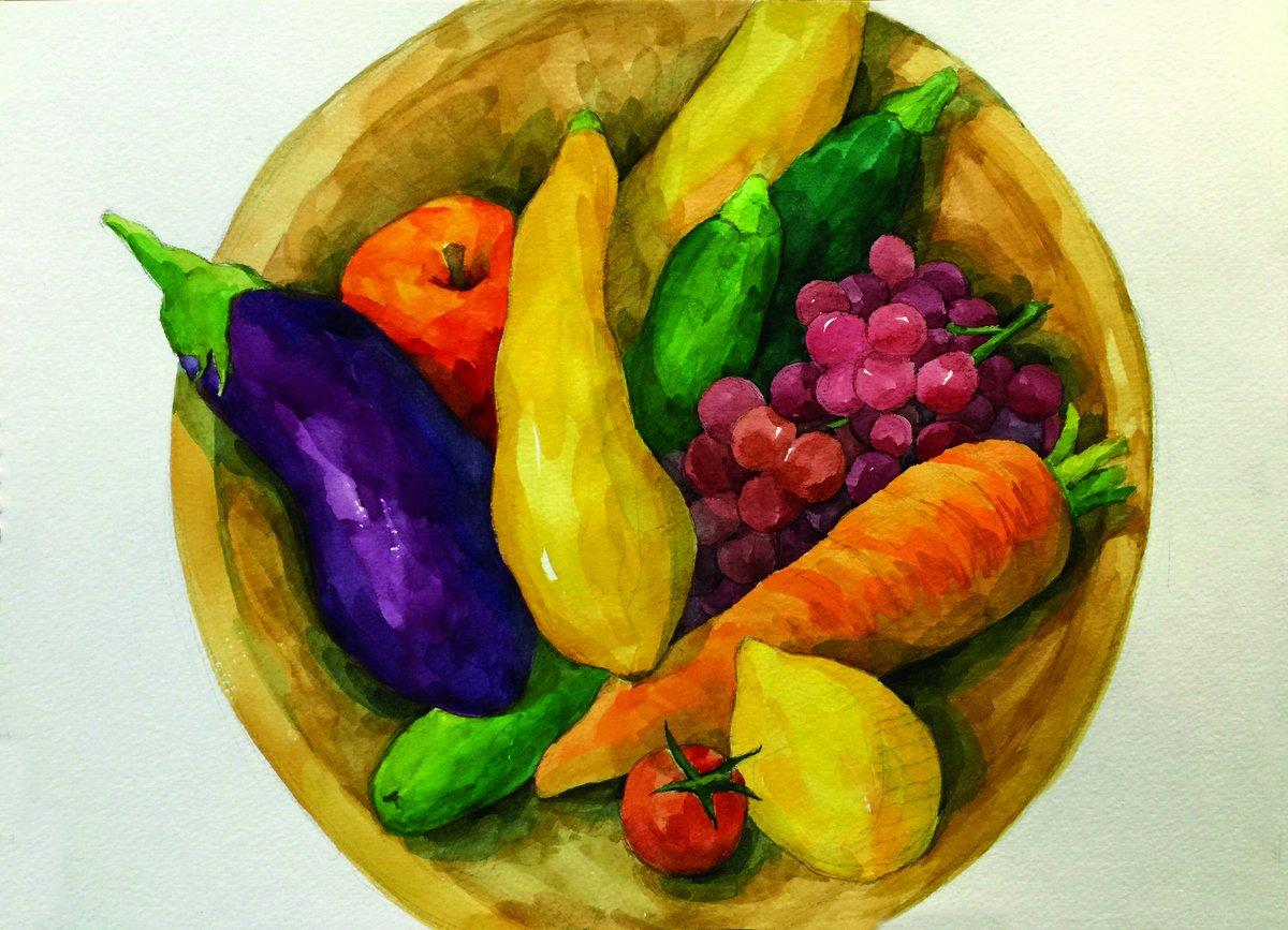 фото как нарисовать фрукты фото меняем воду