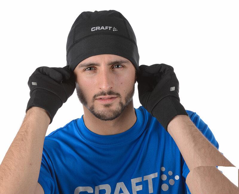 Очень важный атрибут для бега  зимой шапочка и перчатки.