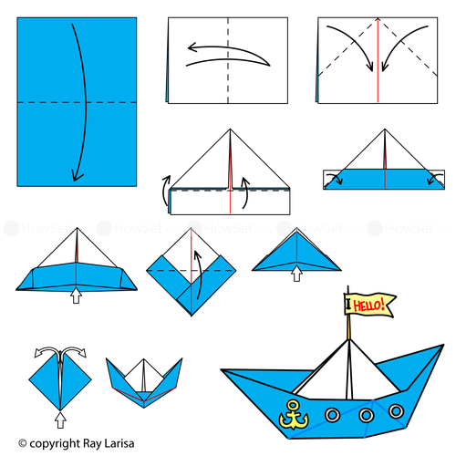 boat animated origami instructions how to make origami card from user tamerlan sapaev in. Black Bedroom Furniture Sets. Home Design Ideas
