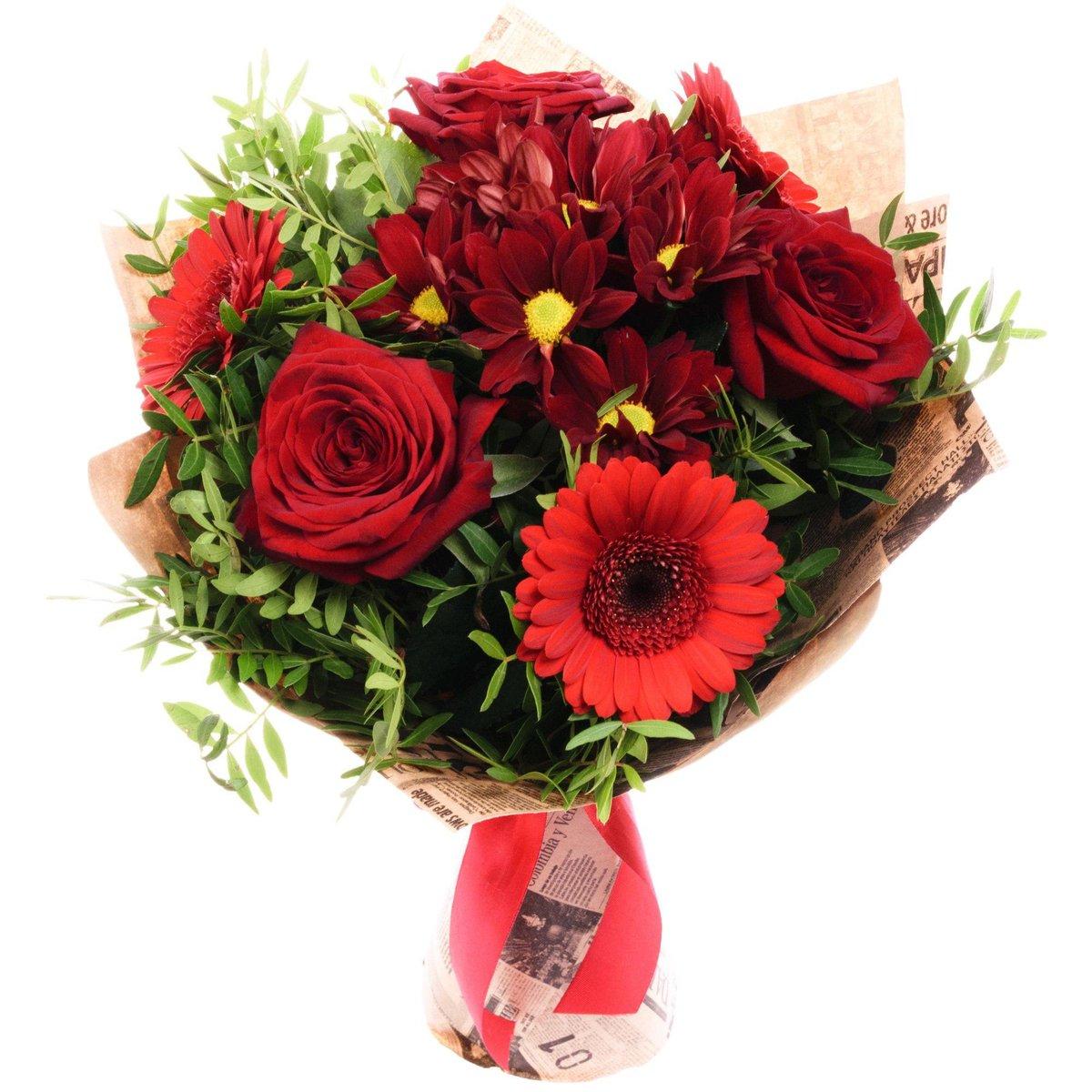 Английских букетов, букет из красных хризантем