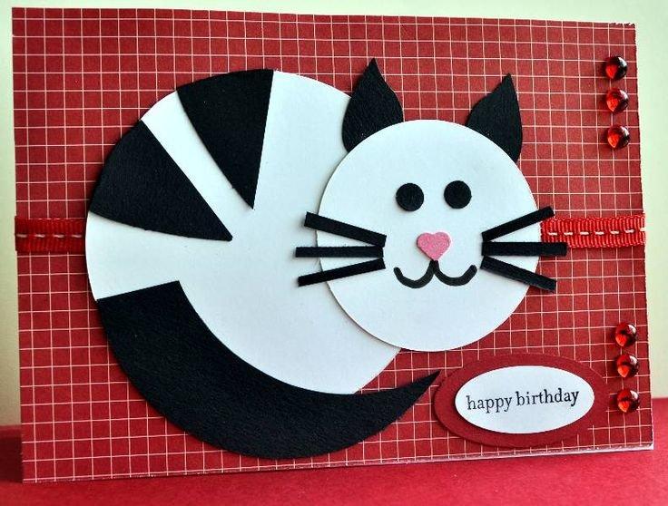 Кот из цветной бумаги для детей
