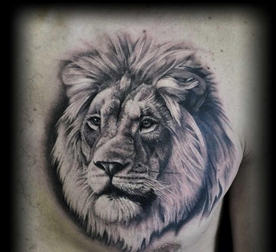 фото татуировка льва