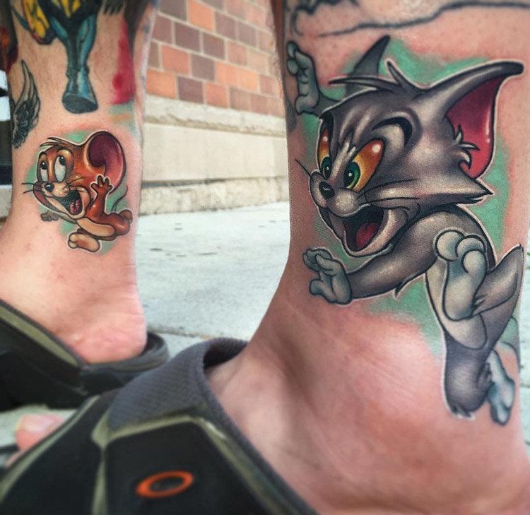 Татуировка том и джерри фото