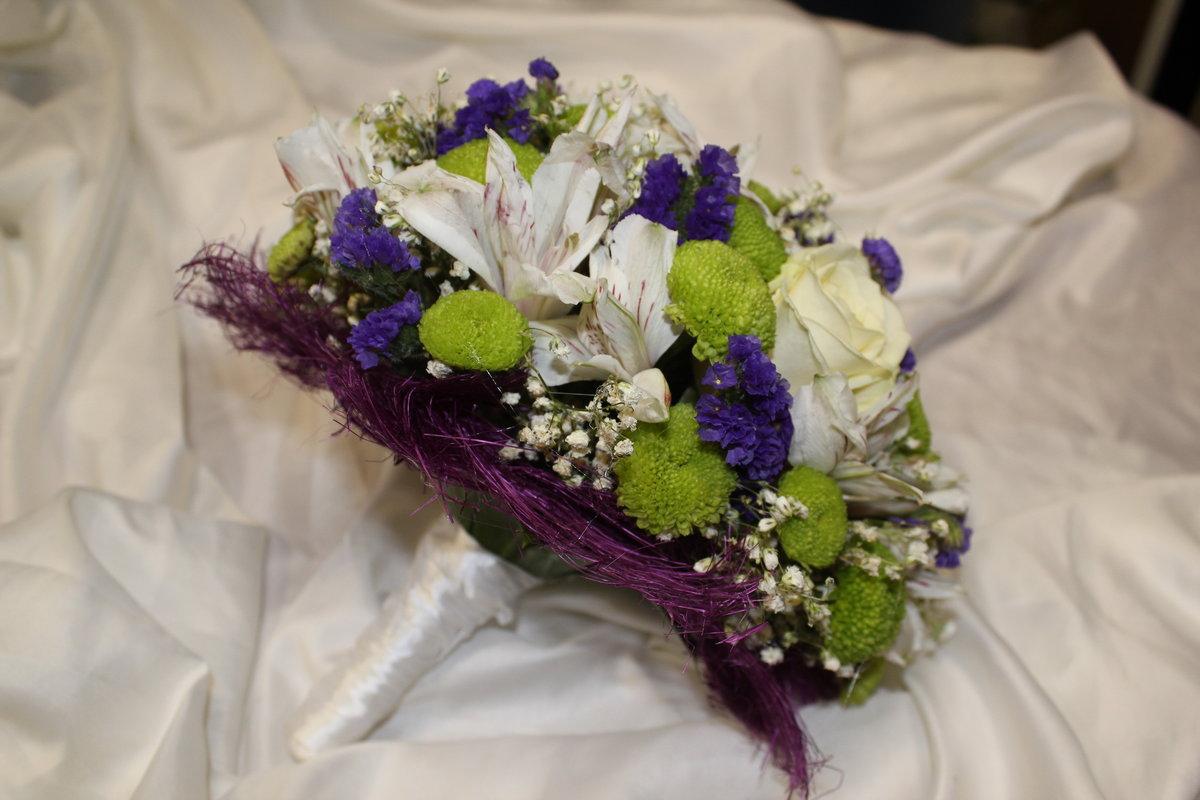 Салон цветов свадебный букет, калатея купить спб