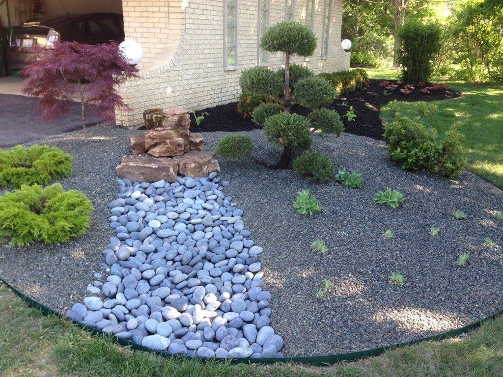 выяснится, оформление сада камнями фото способны