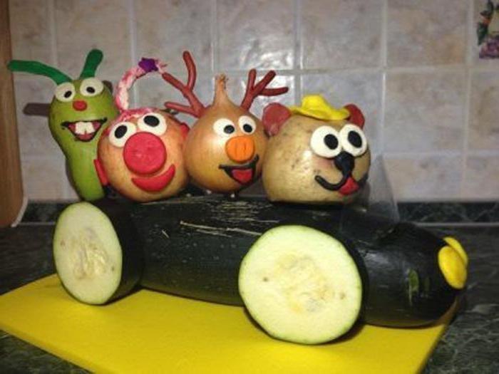 Детские поделки из овощей и фруктов смешарики