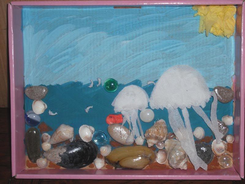 Детские морские картинки из природного материала для детского сада, любовные для