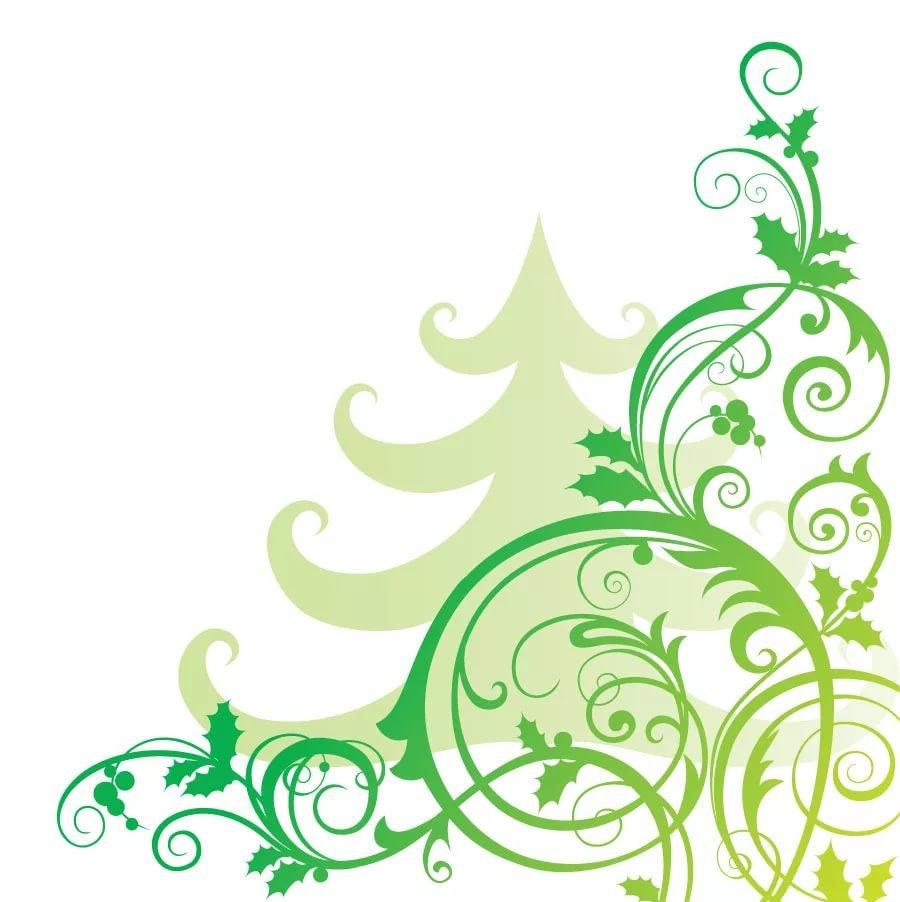 Новогодние узоры для открыток