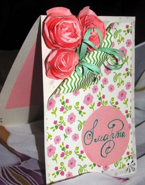 Подарочные открытки на 8 марта маме