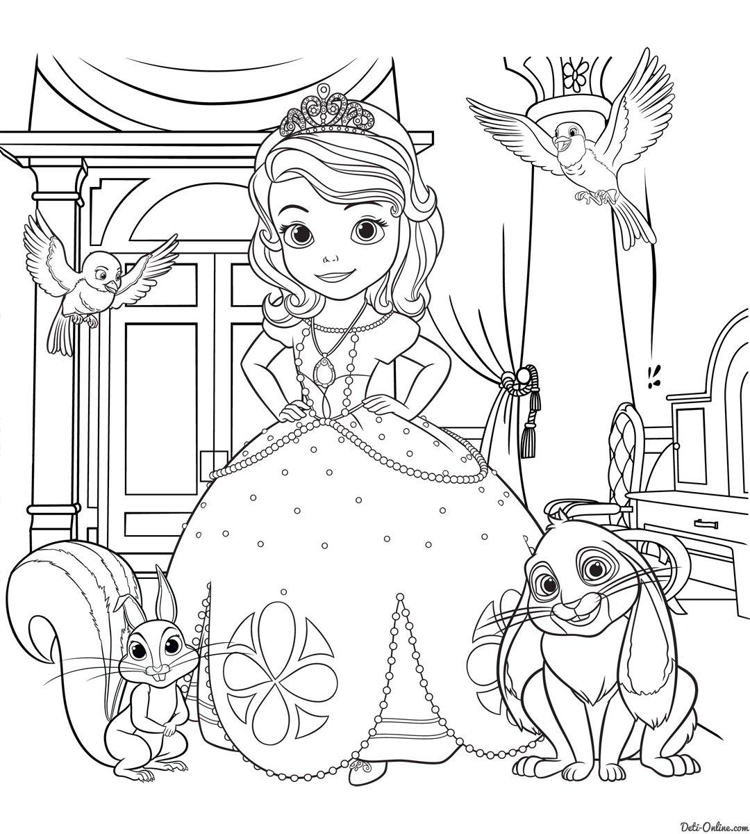 Картинки с принцессами раскраски