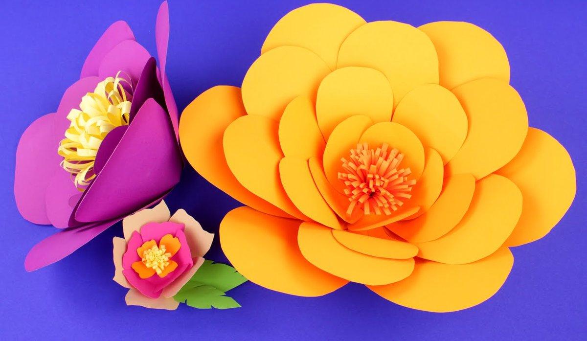 цветы из цветной бумаги фото это украшение интерьера