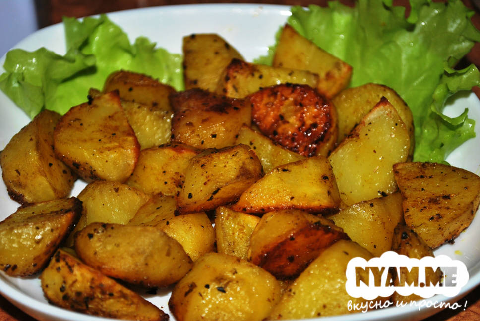 рецепт картофель по деревенски рецепт с фото