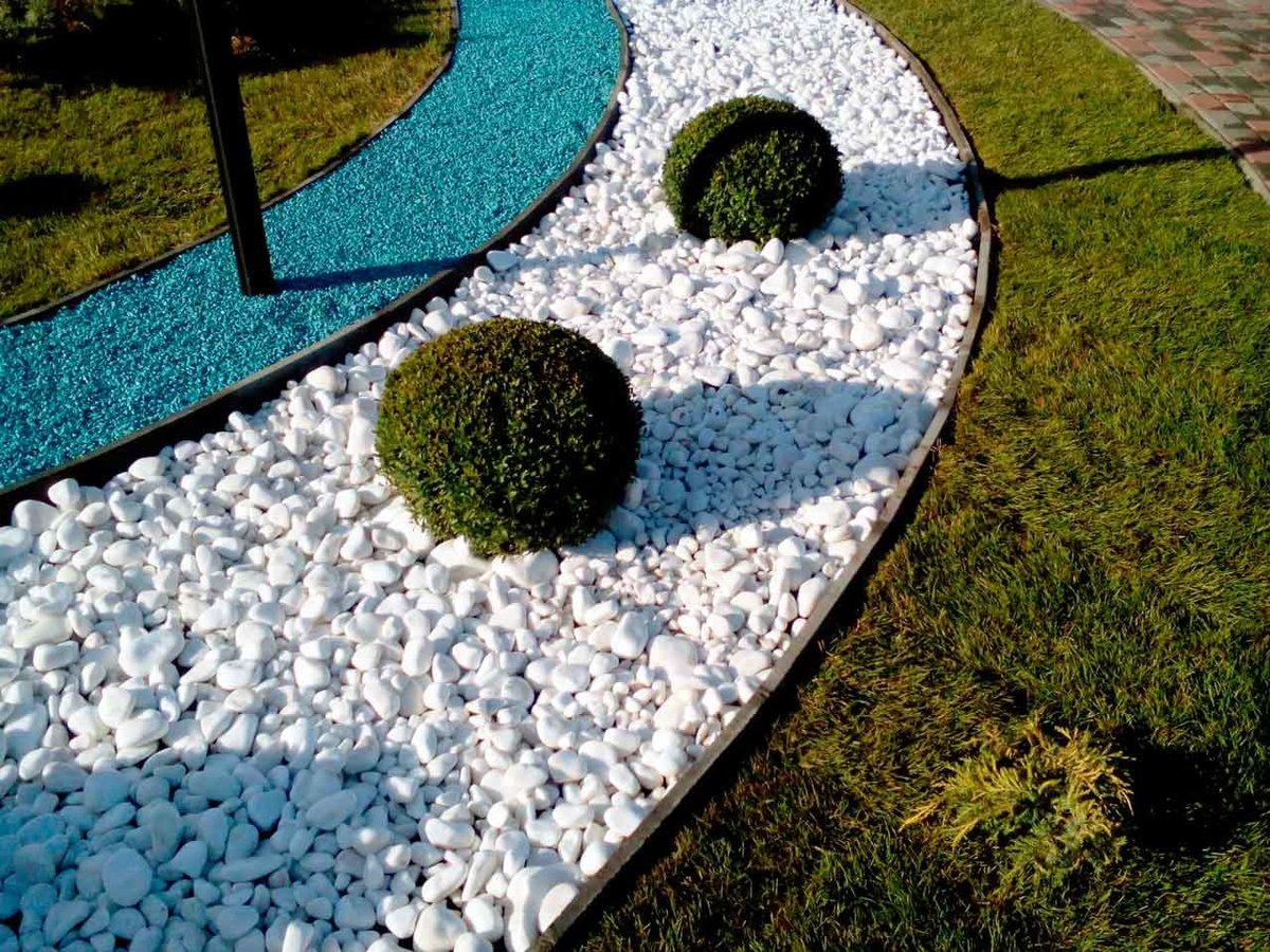 цветной гравий в ландшафтном дизайне