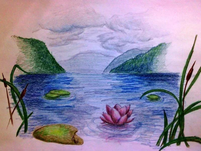 Водные картинки для срисовки