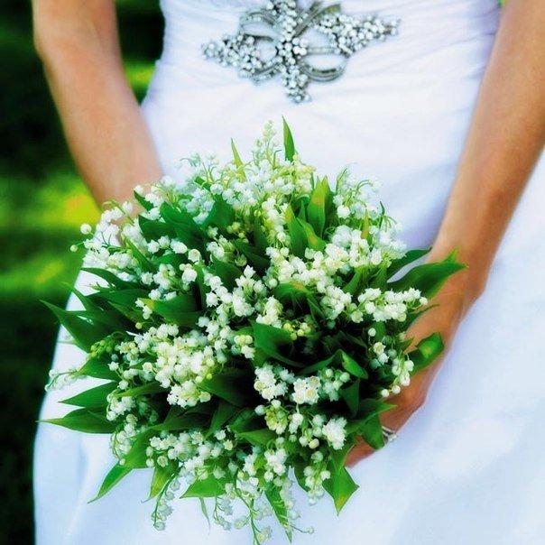 Букеты невесты ландыши и розы фото