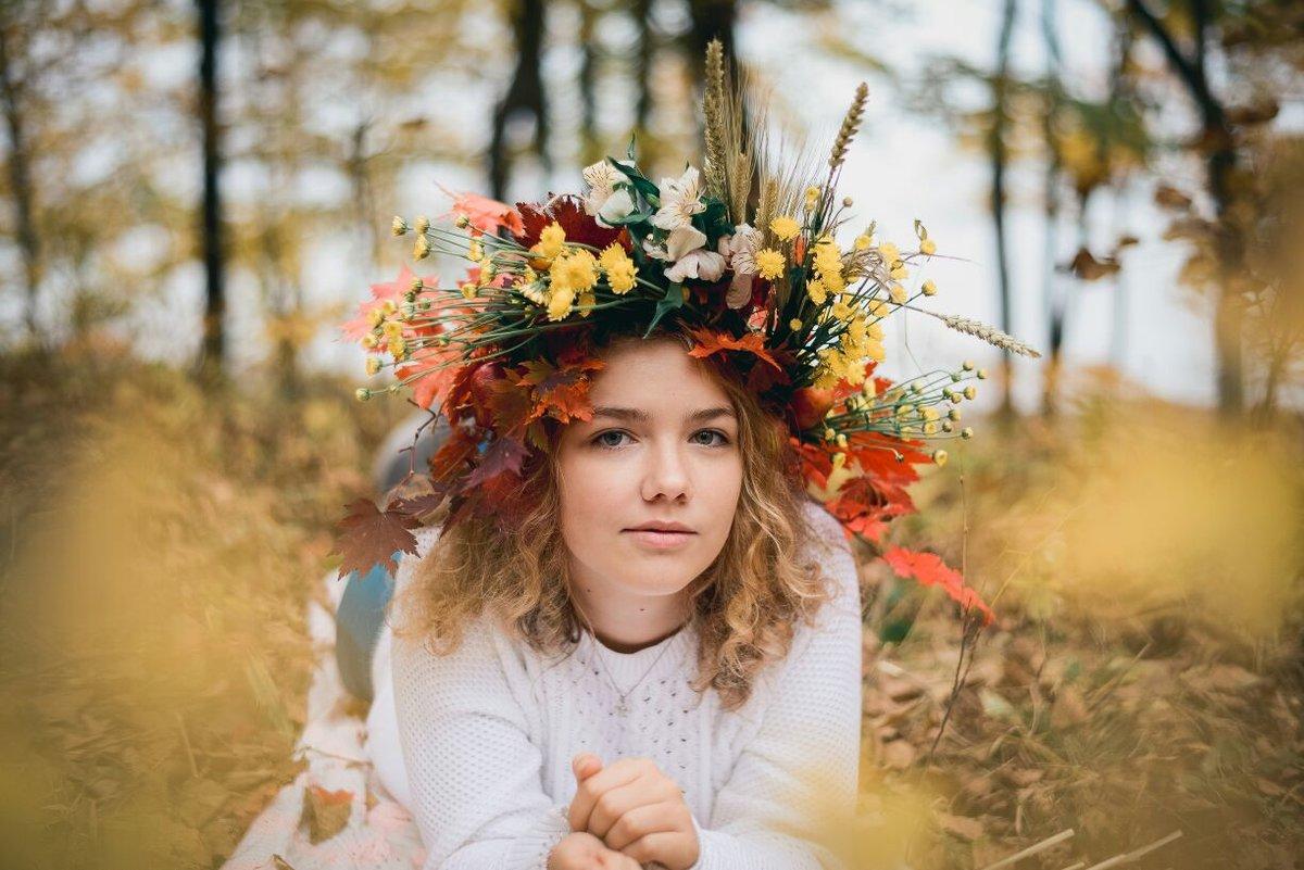 красивые осенние фотопортреты фоторамка онлайн