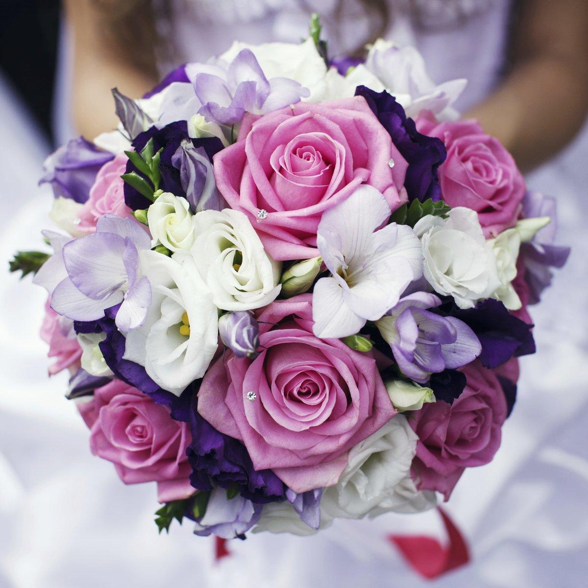 Свадебный розовый букет самый красивый