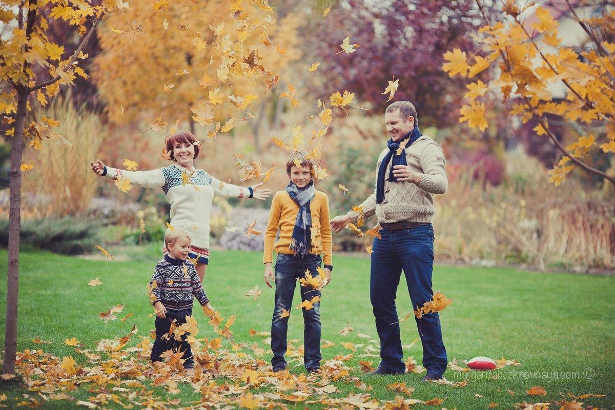 осенние фото в лесу семьей благодаря великой придумке