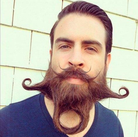Необычные прически бороды
