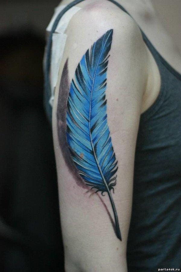 фото татуировок перо этом