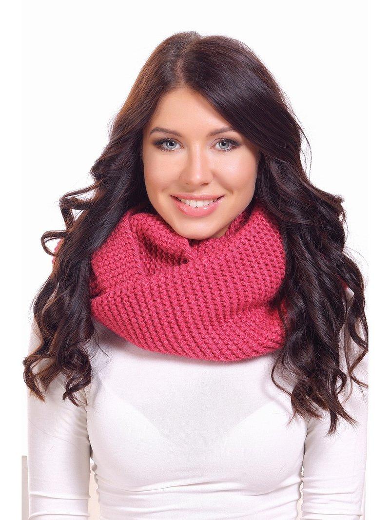 Объемный мягкий шарф-снуд в два оборота