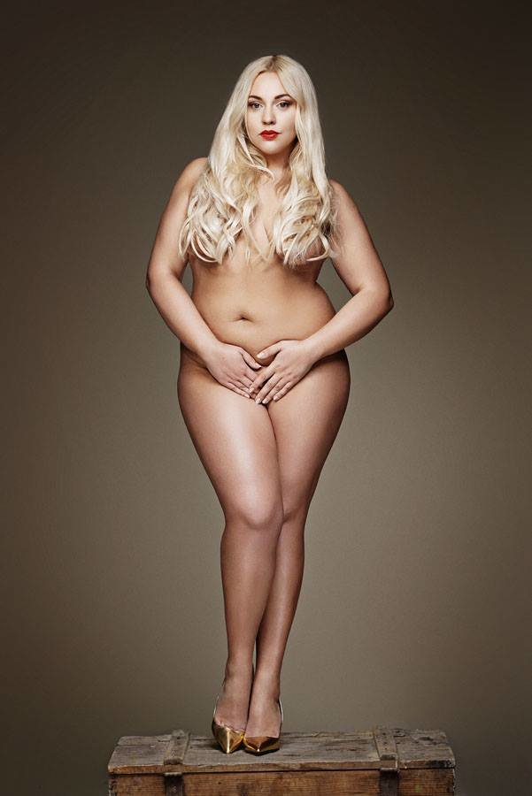 Plus size nude blonde — pic 8