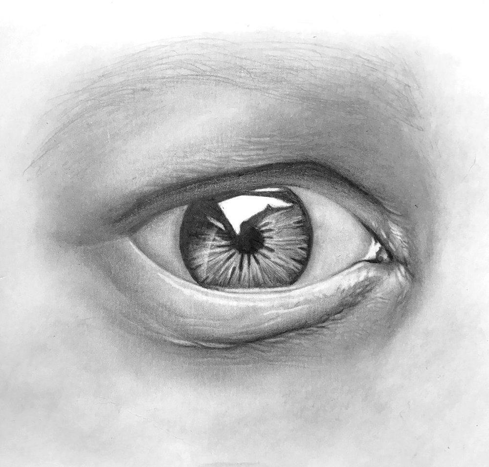 Картинки глаз рисунок карандашом
