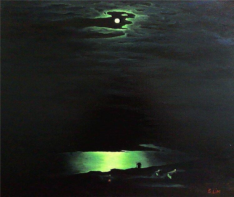 Картина с луной в русском музее искусство кино
