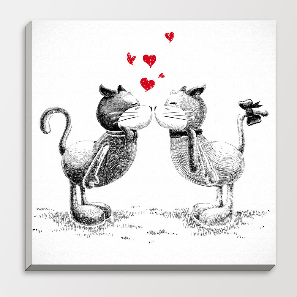 Черно-белые открытки о любви, флешки