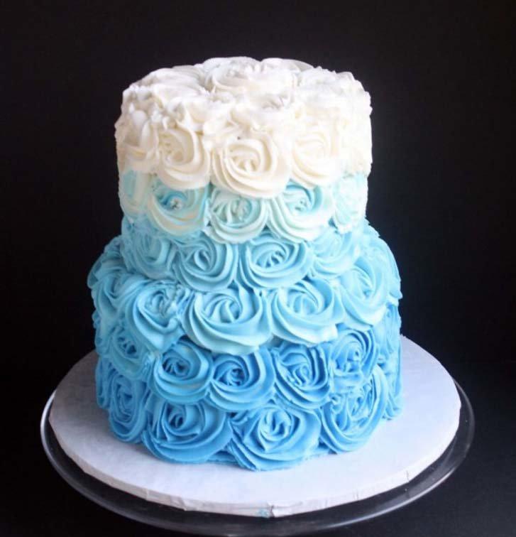 Royal Blue Wedding Cake Design Cake Magazine Card From User