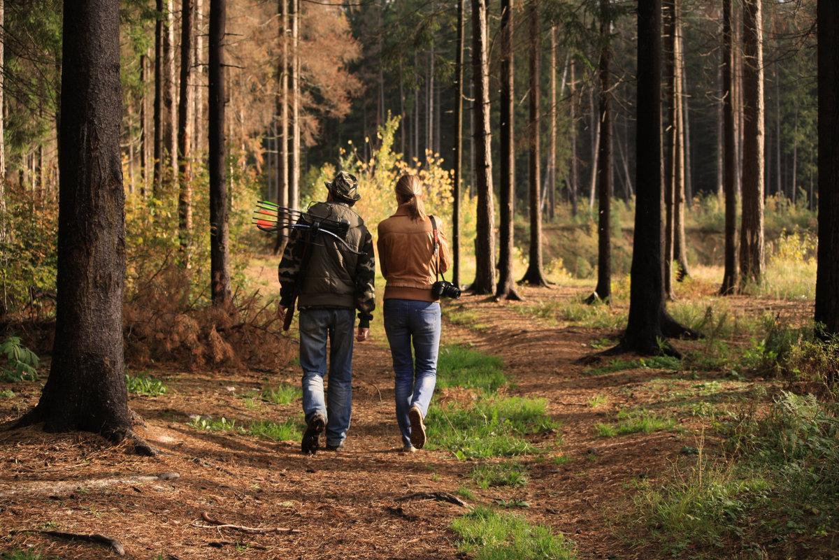 видео парочка пошла погулять в лес - 3