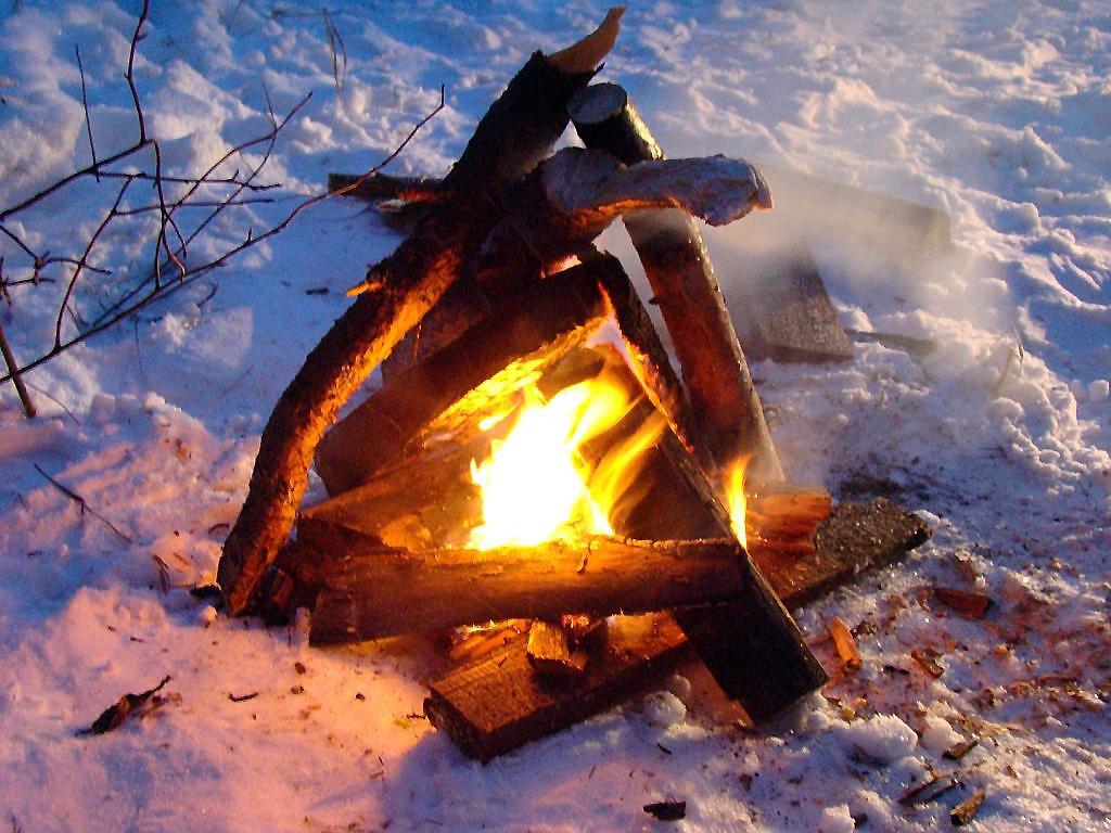 покажите пожалуйста картинки отдыхающих зимой у костра героини четыре