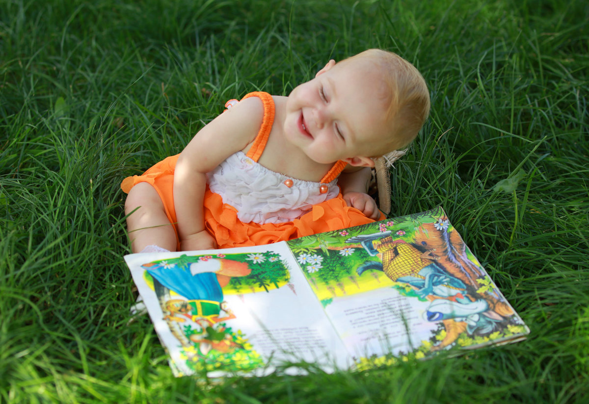 Детские картинки лето с книгой