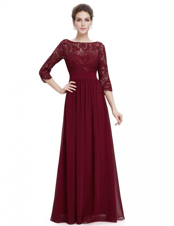 «Вечернее платье с рукавами цвета марсала 8e1faf6145cc3