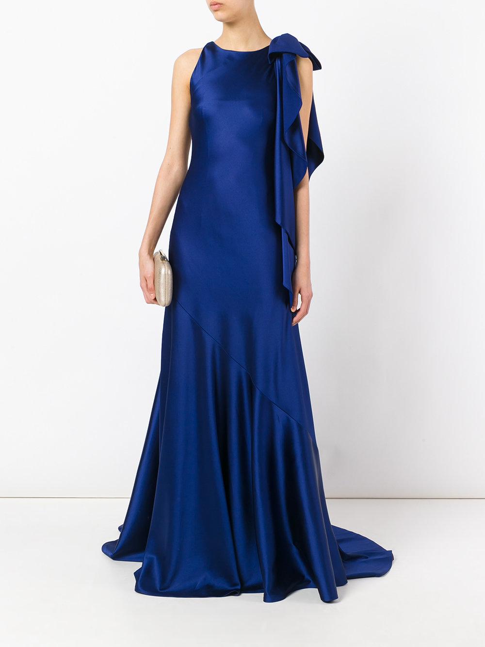 синие платья в пол фото чай вдвоем