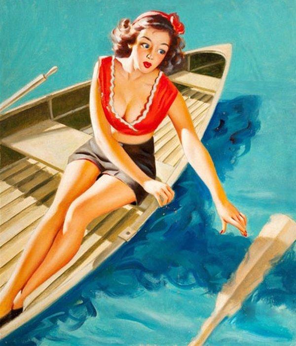 Девушка американские открытки, открыток шкатулки видео
