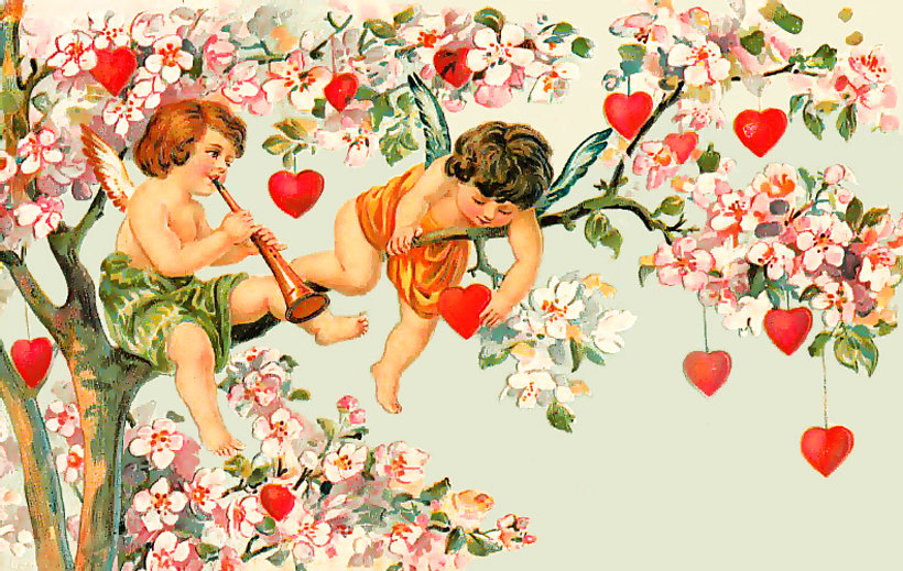 Картинки днем, открытки ретро любовь
