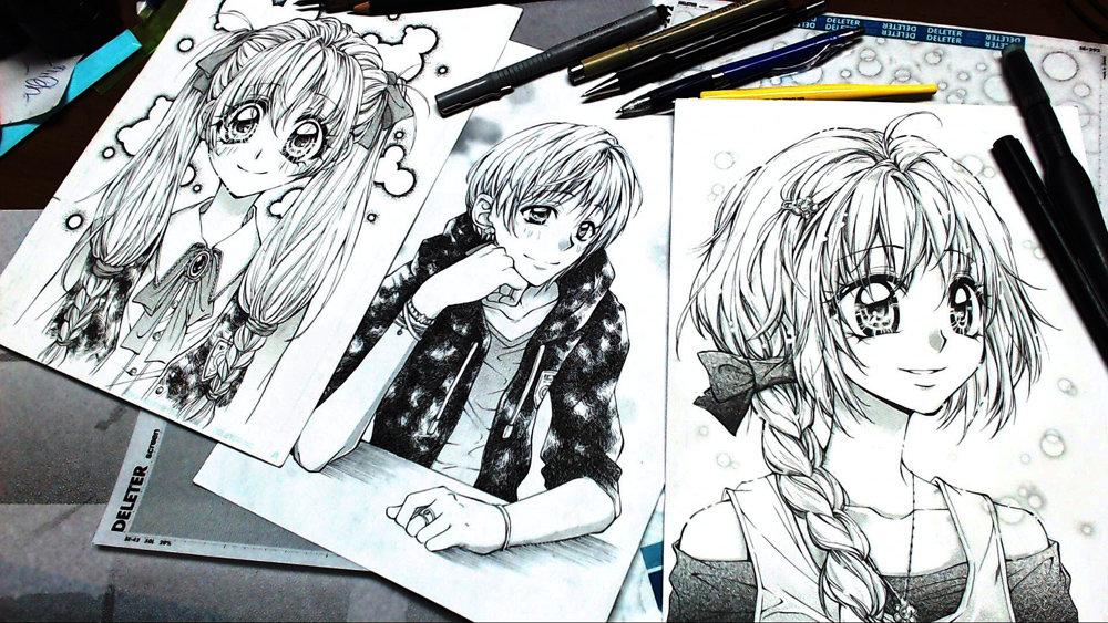 Рисуем мангу картинки