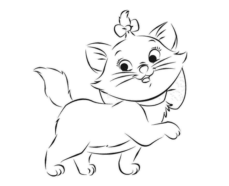 Картинка для раскраски котики