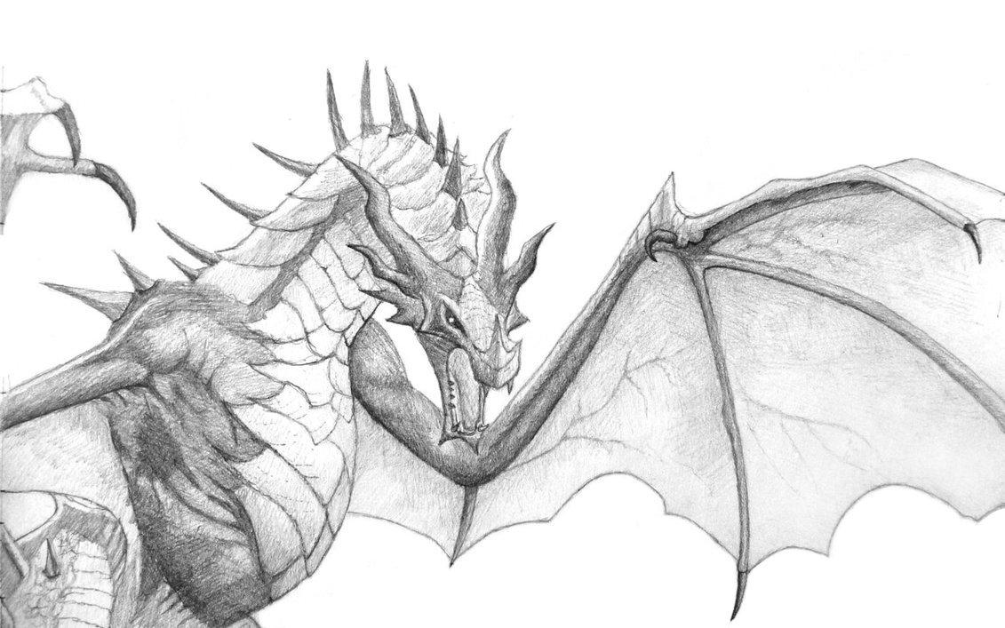 Картинки драконы для срисовки карандашом