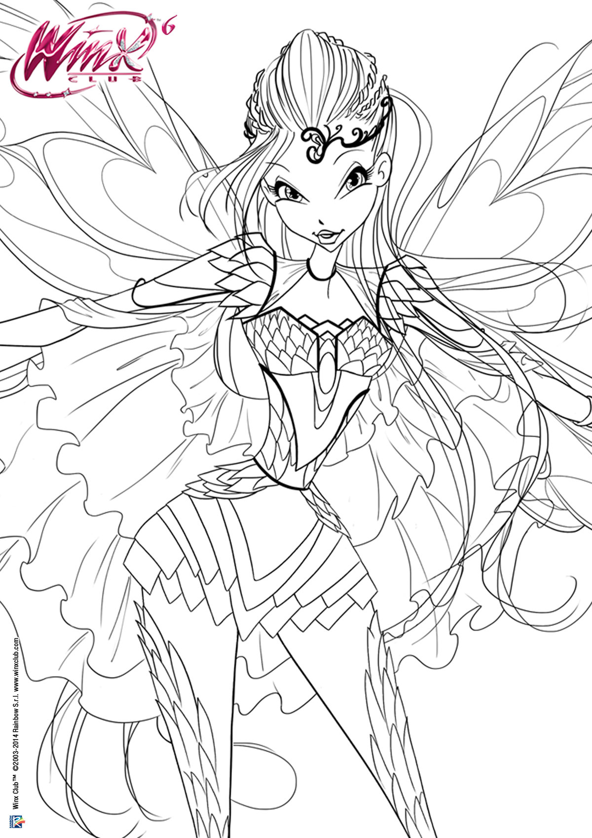 Coloring Pages Winx Bloom Freecoloring4ucom Card From User