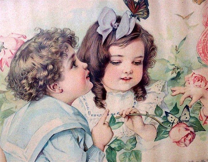 Днем, открытки старинные милые
